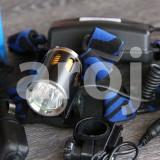 Lanterna frontala si far de bicicleta led CREE T6