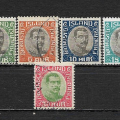 Lot timbre Islanda, Stampilat