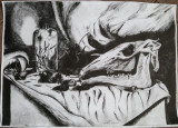 "LIVIU RUSU - GRAVURA - ""NATURA MOARTA"", Abstract, Cerneala"