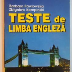 TESTE DE LIMBA ENGLEZA de BARBARA PAWLOWSKA , ZBIGNIEW KEMPINSKI , 1996