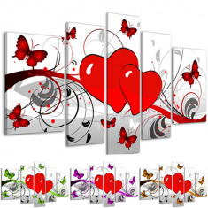 Tablou decorativ butterfly red hearts model BM6857