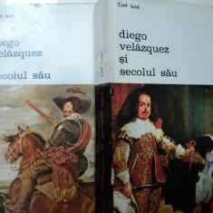 DIEGO VELAZQUEZ SI SECOLUL SAU -CARL JUSTI- BUC. 1980 VOL.I-II - Carte Istoria artei