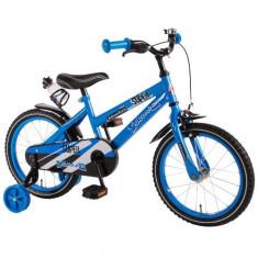 Bicicleta cu Roti Ajutatoare Super 16 inch - Bicicleta copii