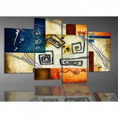 Tablou decorativ pentru living cu spirale- 120x75cm, model BM3075