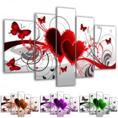 Tablou decorativ modern butterfly hearts model BM6251