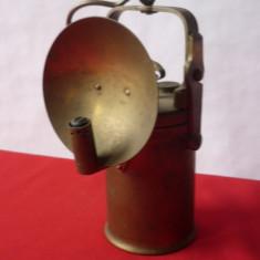 LAMPA CU CARBID DIN BRONZ, ALAMA - Metal/Fonta