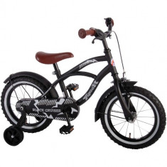 Bicicleta cu Roti Ajutatoare Yipeeh Black Cruiser 14 inch - Bicicleta copii