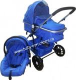 Cărucior nou născut 3 in 1 Baby Care YK 18-19 Albastru închis