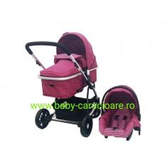 Cărucior nou născut 3 in 1 Baby Care YK 18-19 Fucsia
