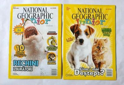 Lot 2 reviste copii, National Geographic Junior,  nr. 3 si 5 / 2004 foto