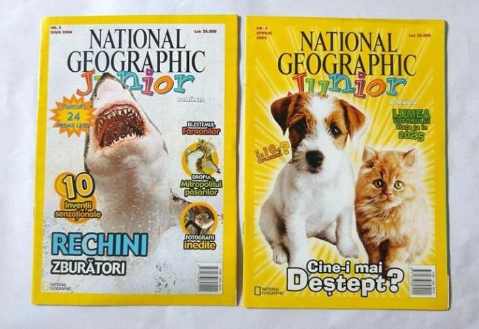 Lot 2 reviste copii, National Geographic Junior,  nr. 3 si 5 / 2004