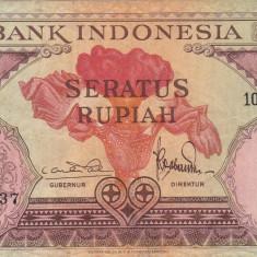 INDONEZIA 100 rupiah 1959 VF+!!! - bancnota asia