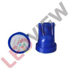 Bec pozitie T10 cu 1 led COB - Albastru