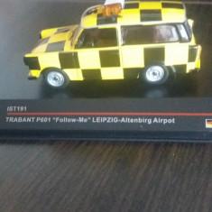 """Macheta trabant p601 """" follow me-leipzig altenbirg airport - ist premium, 1/43., 1:43"""
