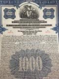 $1000 Dolari Sua Aur Titlu obligatiune Germania 1926 la purtator cu cupoane