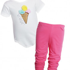 Set Ice Cream cu body si pantaloni, 3-6 luni