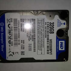 HDD Laptop 320 Gb SATA2/ Western Digital WD3200BPVT / 2, 5 Inch /5400 Rpm (36F), 300-499 GB, 8 MB