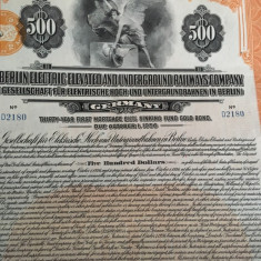 $500 Aur obligatiune Germania Berlin 1926 cu cupoane