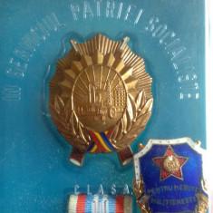 Ordinul In Serviciul Patriei Socialiste si Insigna MILITIA  - CEAUSESCU - 1960