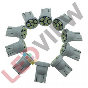 Bec T10 (W5W) cu 6 led SMD 3528 Alb xenon