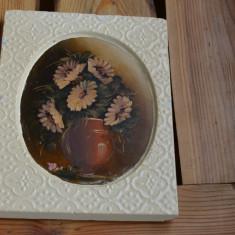 Pictura veche / Tablou vehi pictat  / Pictura ulei anii 1930, Flori, Realism