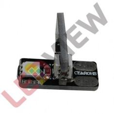 Bec pozitie T10 (W5W) cu 2 led SMD 5050 Canbus - Alb