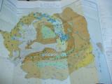 Romania ape minerale si termale 1983 harta color text romana franceza rusa