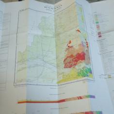 Romania harta geologica 1965 color