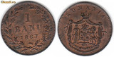 * Moneda 1 banu  ban 1867 Heaton, Bronz
