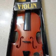 Vioara plastic de copii cu arcus
