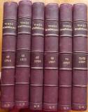 Viata Romaneasca , 6 volume in cotor piele , 1916 - 1927