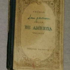 Laelius de amicitia  : dialogus : texte latin / Cicero