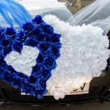 Decoratiune inimioara masina nunta