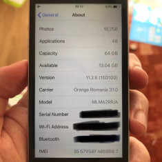 IPhone SE 64GB, GARANTIE 07/2018, neverlocked, impecabil - Telefon iPhone Apple, Argintiu