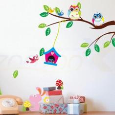 Sticker perete camera copii ciupercute iepurasi si scasute transport gratuit 10