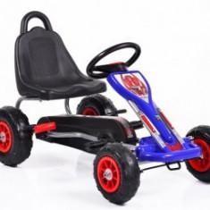 Cart Cu Pedale Copii 3-8 Ani Moni Falcon Air Blue - Tricicleta copii