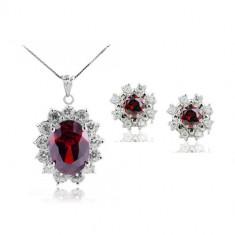 Set bijuterii Royal Red - Set Swarovski