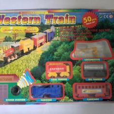 Joc Western Train Tai Cheong Toys, plastic, fara locomotiva - Vehicul