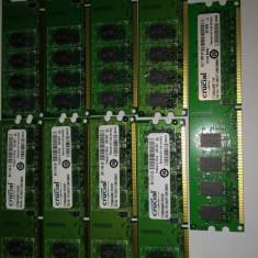 Ram 2 Gb DDR2 / Desktop 667 Mhz Crucial /PC2-5300U/ Testate (35) - Memorie RAM Crucial, Dual channel