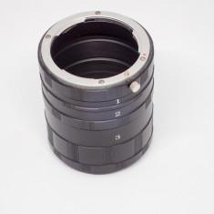 Set tuburi extensie fotografie macro compatibile Nikon - Inel macro obiectiv foto