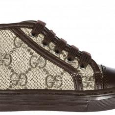 Sneakers Gucci - Adidasi copii Gucci, Marime: 21, 22, 24, 26, Culoare: Maro
