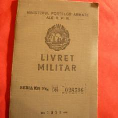 Livret Militar RPR , soldat , eliberat 1961