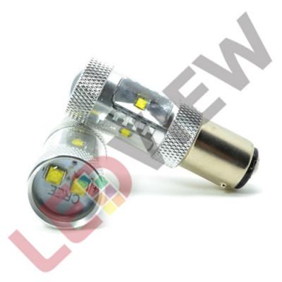 Bec P21W / 1156 cu led CREE putere 30W - Alb foto