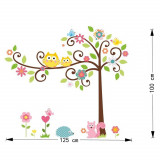Sticker perete camera copii copacul cu pasari si arici transport gratuit 9