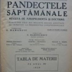 PANDECTELE SAPTAMANALE - 1939