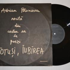 Disc vinil ADRIAN PAUNESCU recita din cartea sa de poezii TOTUSI IUBIREA (03417) - Muzica soundtrack electrecord