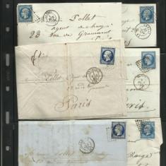 Colectie scrisori Franta corespondenta banca -Ceres Napoleon - raritate absoluta