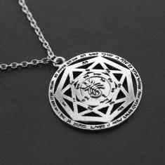 Pandantiv viking heptagrama cu rune scorpion  pagan TRANSPORT GRATUIT