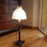 Lampa de birou din fier forjat manual