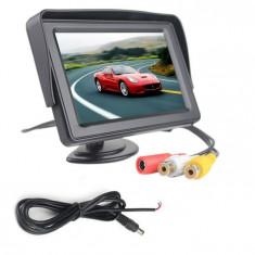 Monitor LCD TFT 4.3 inch pentru camera mers inapoi COD 75 - Monitor Auto